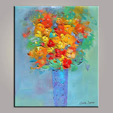 abstract painting small still life painting original painting flower in vase
