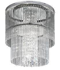 art deco style 4 lamp 2 tier flush