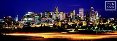 High Definition Pictures Panoramic Skyline Of Denver At Dusk Ultra High Definition