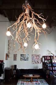 simple diy wood chandelier