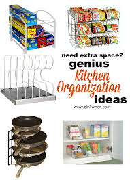 Organizing For Kitchen Genius Ideas For Organizing The Kitchen Pinkwhen