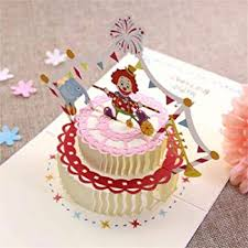 Handmade 3d Pop Up Birthday Cake Candle Greeting Cards Fast Shipping