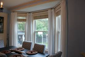 bay window curtain rod decorative