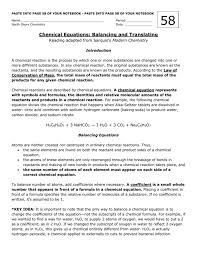 balancing chemical equation practice docx
