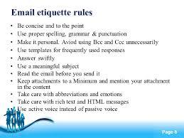 Email Etiquette Rules Rome Fontanacountryinn Com