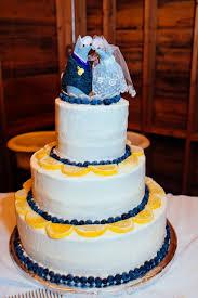 Lemon And Blueberry Buttercream Wedding Cake