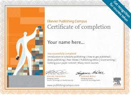 Online Certificates Free Elsevier Launches A Free Online Training Platform For Researchers