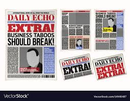 Extra Extra Newspaper Template Daily Newspaper Template Tabloid Layout