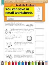 Kids Math-Word Problems Worksheets(Grade 4) (iPad) reviews at iPad ...