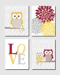 owl nursery decor girl nursery art kids