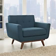 Blue And Brown Accent Chair Shop Modway Engage Modern Azure Nylon Accent Chair At Lowescom