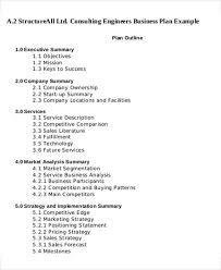 executive business plan template 12 consulting business plan templates free word pdf format