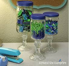 Ways To Decorate Glass Jars 100 Cubicle Decor Ideas To Make Your Office Style Work As Hard As 58