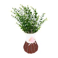 artificial plants for office decor. Artificial Plants Fake Fresh Green 7 Branches Plant Grass Home Office Hotel Table Decor Grass-in \u0026 Dried Flowers For