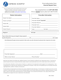 Prior Authorization Form Download Express Scripts Prior Authorization Form PDF RTF Word 1