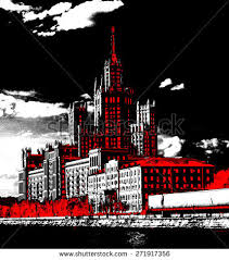 famous architectural buildings black and white. Moscow Russia, Big Famous Building, Architectural Design, Socialistic Proud, Solid Construction, Buildings Black And White