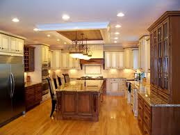 recessed lighting ideas for kitchen. Overwhelming Kitchen Design Ideas Recessed Lights Iling And Classic Pendant Lamps Over Island Butcher Block With Seating For Lighting L