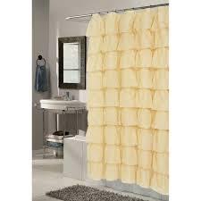 carnation home fashions carmen ruffle tier fabric shower curtain gold scvoil car 02