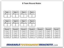 8 Team League Schedule Generator 8 Team Round Robin Tournament Bracket Erasabletournamentbrackets Com