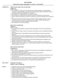 Line Supervisor Resume Samples Velvet Jobs