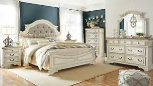 Details about NEW Old World Antique White Bedroom Furniture - 5pcs Queen Fabric Bed Set IA0D