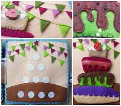 quiet book page ideas big birthday cake and counting to 4