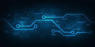 Digital Hardware Design Engineer Digital Circuit Design On A Dark Blue Background Download