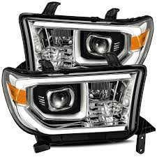 2008 Toyota Sequoia Fog Lights 07 13 Toyota Tundra 08 13 Toyota Sequoia Pro Series Projector Headlights Chrome Without Level Adjuster