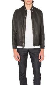 schott vintaged cafe moto jacket black men jackets coats