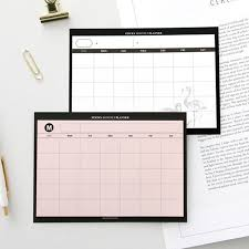 Simple Sticky Monthly Planner