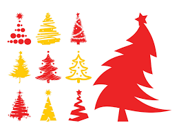 Christmas Trees Silhouettes Free Vectors Ui Download