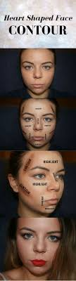 how to contour a heart shaped face you will need a liquid foundation in your