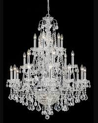 26 lights wrought iron crystal chandelier