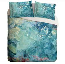 abstract duvet covers. Fine Duvet Duvet Cover With Abstract Art King Or Queen Aqua Blue Green Cream Throughout Abstract Covers U