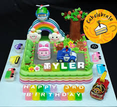 Jelly Birthday Cake Design Poli Car Design Jelly Birthday Cake Food Drinks Baked