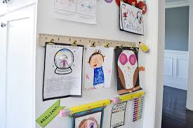 Childrens Artwork Display Make A Diy Display For Your Kids Schoolwork And Art Projects