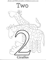 coloring pages little bunny series for number 2 page and 10 within number 2 coloring page