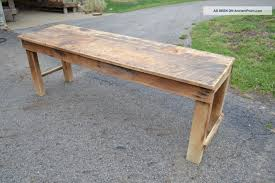 antique kitchen table with bench photo 1