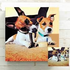 personalized dog canvas wall art