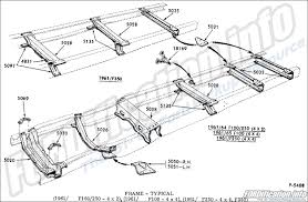 frame & body schematics fordification info the '61 '66 ford F350 Frame Diagram frame typical 1961 f100 250 4x2, 1961 f100 4x4, 1961 f250 4x4, f350, ' Ford F-350 Frame Width