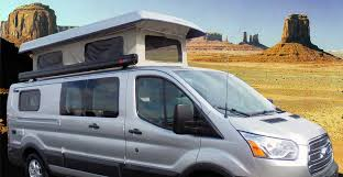 custom ford transit van conversion with the pop top extended