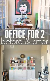 shared office layout. Shared Home Office Layout Before And After A