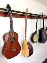 guitar wall hanger aloha home solutions guitar wall rack guitar wall mount uk guitar wall hanger