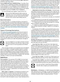 Types Of Coverage Exemptions Chart Instructions For Form Pdf Free Download