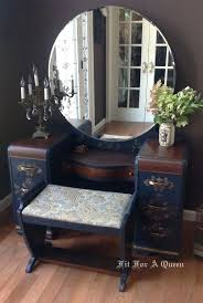 decoration vintage vanity dresser with round mirror designs antique dressing table