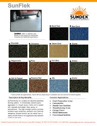 Color Charts And System Brochures Sundek