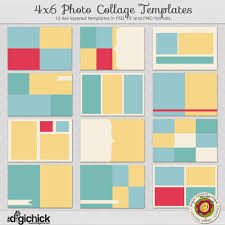 Template For Picture Collage 4 X 6 Photo Collage Templates Angie Kovacs Digital