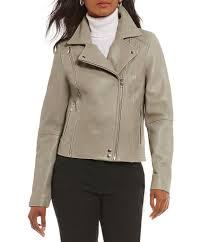 grey moto antonio melani luxury collection jojo genuine leather jacket womens grey