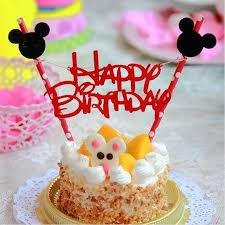 1 Set Mickey Mouse Tema Selamat Ulang Tahun Cupcake Cake Topper