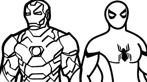 Small Picture Spiderman and Iron Man Coloring Pages Kids Fun Art Colouring Book